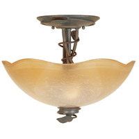 Timberline 3 Light 120 Old Bronze Semi-Flush Ceiling Light