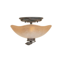 Timberline 2 Light 13 inch Old Bronze Flushmount Ceiling Light
