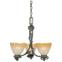 Timberline 3 Light 18 inch Old Bronze Chandelier Ceiling Light