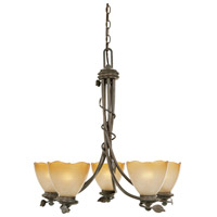 Timberline 5 Light 27 inch Old Bronze Chandelier Ceiling Light