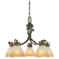 Designers Fountain 95686-OB Timberline 5 Light 23 inch Old Bronze Chandelier Ceiling Light