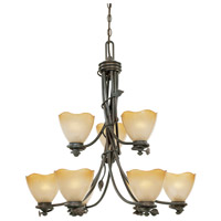 Designers Fountain Timberline 9 Light Chandelier in Old Bronze 95689-OB