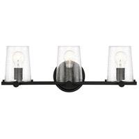 Designers Fountain 95803-MB Matteson 3 Light 25 inch Matte Black Bath / Vanity Light Wall Light