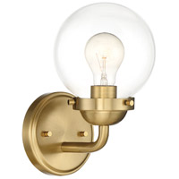 Designers Fountain 95901-BG Knoll 1 Light 6 inch Brushed Gold Wall Sconce Wall Light