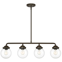 Designers Fountain 95938-ORB Knoll 4 Light 33 inch Oil Rubbed Bronze Island Pendant Ceiling Light