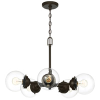 Designers Fountain 95985-ORB Knoll 5 Light 26 inch Oil Rubbed Bronze Chandelier Ceiling Light