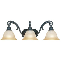 Barcelona 3 Light 26 inch Natural Iron Bath Bar Wall Light