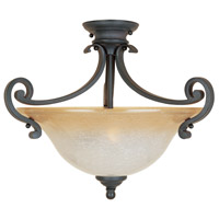 Barcelona 2 Light 19 inch Natural Iron Semi-Flush Ceiling Light