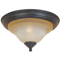 Barcelona 2 Light 13 inch Natural Iron Flush Mount Ceiling Light