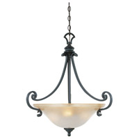Barcelona 3 Light 21 inch Natural Iron Pendant Ceiling Light