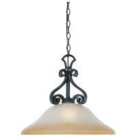 Barcelona 1 Light 18 inch Natural Iron Pendant Ceiling Light