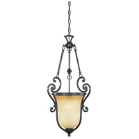 Barcelona 1 Light 14 inch Natural Iron Pendant Ceiling Light