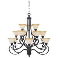Barcelona 15 Light 40 inch Natural Iron Chandelier Ceiling Light