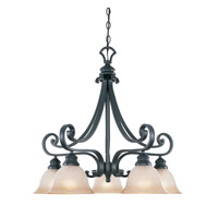 Barcelona 5 Light 26 inch Natural Iron Chandelier Ceiling Light
