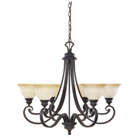 Barcelona 6 Light 31 inch Natural Iron Chandelier Ceiling Light