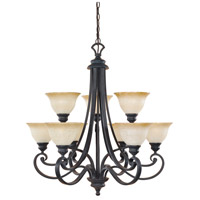 Designers Fountain Barcelona 9 Light Chandelier in Natural Iron 96189-NI