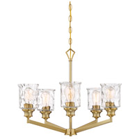 Designers Fountain 96385-BG Drake 5 Light 25 inch Brushed Gold Chandelier Ceiling Light