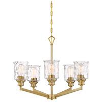 Designers Fountain 96385-BG Drake 5 Light 25 inch Brushed Gold Chandelier Ceiling Light