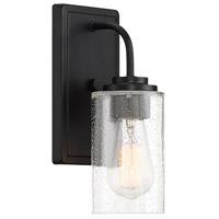 Designers Fountain 96401-MB Logan 1 Light 5 inch Matte Black Wall Sconce Wall Light