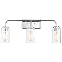 Designers Fountain 96403-CH Logan 3 Light 25 inch Chrome Bath / Vanity Light Wall Light