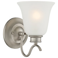 Montego 1 Light 6 inch Matte Pewter Wall Sconce Wall Light in Frosted