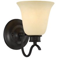 Montego 1 Light 6 inch Oil Rubbed Bronze Wall Sconce Wall Light in Satin Bisque