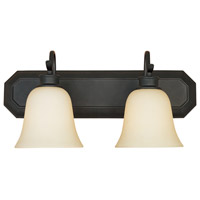 Montego 2 Light 18 inch Oil Rubbed Bronze Bath Bar Wall Light in Satin Bisque