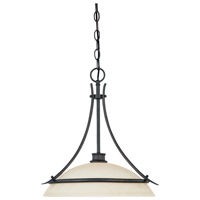 Montego 1 Light 120 Oil Rubbed Bronze Pendant Ceiling Light in Satin Bisque