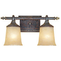 Austin 2 Light 18 inch Weathered Saddle Bath Bar Wall Light