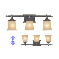 Austin 3 Light 28 inch Weathered Saddle Bath Bar Wall Light