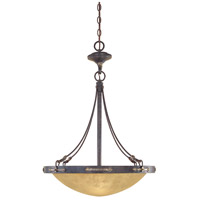 Austin 3 Light 120 Weathered Saddle Pendant Ceiling Light