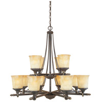 Austin 12 Light 36 inch Weathered Saddle Chandelier Ceiling Light