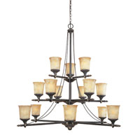 Designers Fountain Austin 15 Light Chandelier in Weathered Saddle 973815-WSD