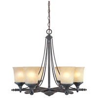 Designers Fountain 97386-WSD Austin 6 Light 27 inch Weathered Saddle Chandelier Ceiling Light