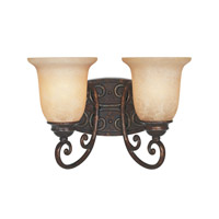 Designers Fountain Amherst 2 Light Bath Bar in Burnt Umber 97502-BU