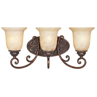 Amherst 3 Light 22 inch Burnt Umber Bath Bar Wall Light