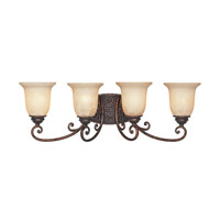 Amherst 4 Light 30 inch Burnt Umber Bath Bar Wall Light