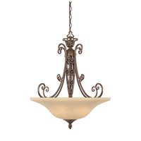 Amherst 3 Light 120 Burnt Umber Pendant Ceiling Light