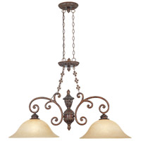 Designers Fountain Amherst 2 Light Island Pendant in Burnt Umber 97538-BU