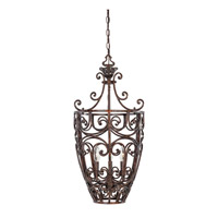 Amherst 3 Light 15 inch Burnt Umber Foyer Ceiling Light