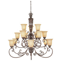 Designers Fountain Amherst 15 Light Chandelier in Burnt Umber 975815-BU