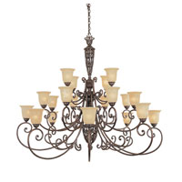 Designers Fountain Amherst 20 Light Chandelier in Burnt Umber 975820-BU
