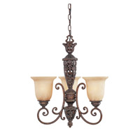 Designers Fountain Amherst 3 Light Chandelier in Burnt Umber 97583-BU