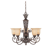 Amherst 5 Light 28 inch Burnt Umber Chandelier Ceiling Light