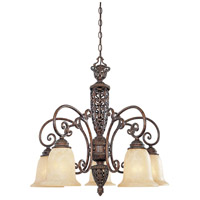 Designers Fountain Amherst 5 Light Chandelier in Burnt Umber 97586-BU