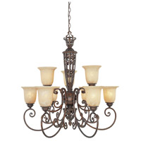 Designers Fountain Amherst 9 Light Chandelier in Burnt Umber 97589-BU