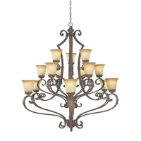 Designers Fountain Grand Palais 15 Light Chandelier in Venetian Bronze-Gold 976815-VBG