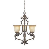 Designers Fountain Grand Palais 3 Light Chandelier in Venetian Bronze-Gold 97683-VBG