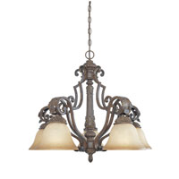 Designers Fountain Grand Palais 5 Light Chandelier in Venetian Bronze-Gold 97685-VBG