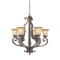Designers Fountain Grand Palais 6 Light Chandelier in Venetian Bronze-Gold 97686-VBG